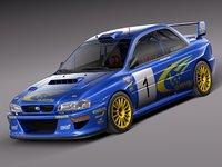 japan car sport subaru impreza 3d max