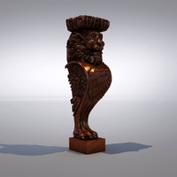 3d carved decorative element