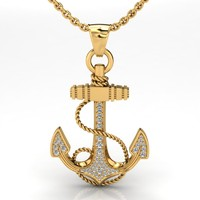anchor pendant 3ds