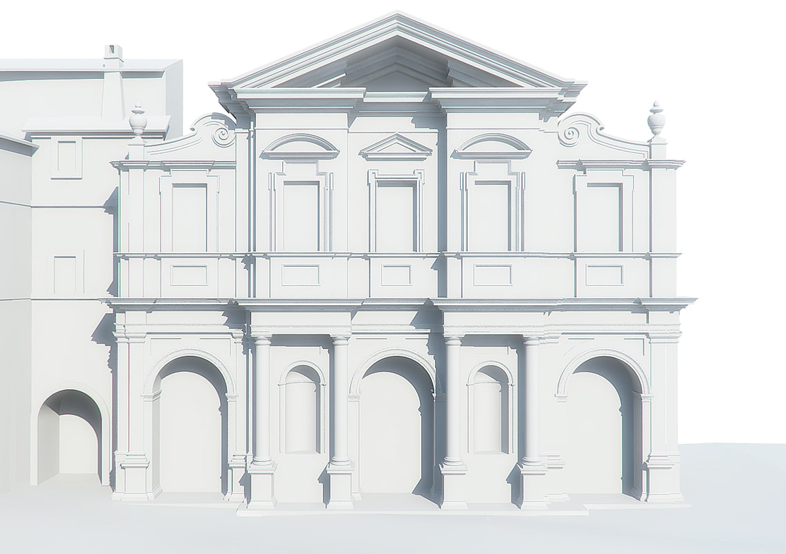 obj facade basilica st bartholomew