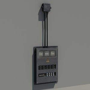 3d model box electrical