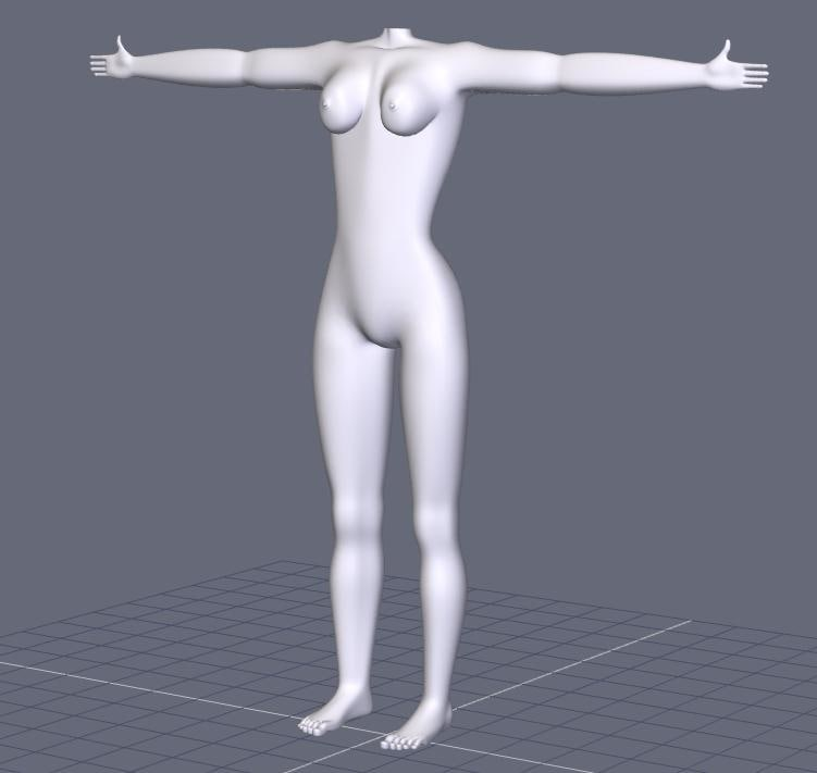 free female lady woman 3d model
