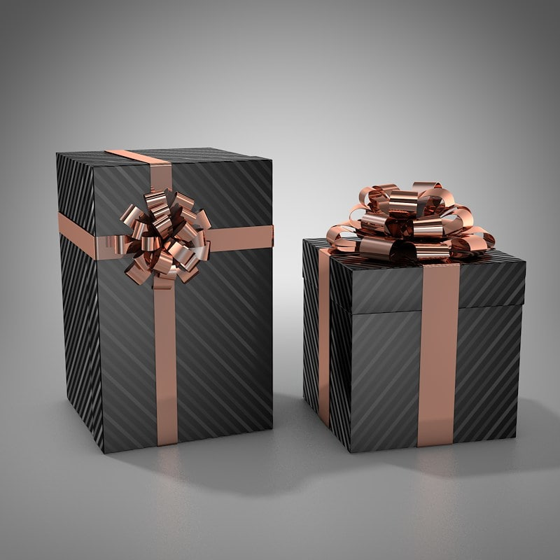 c4d gift boxes
