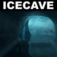 3d ice cave landscape desert