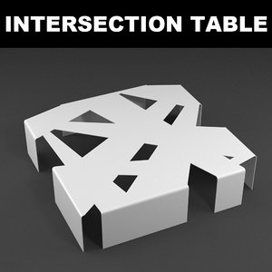 3d model of intersection table design