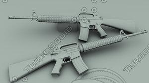 3d m16a2 assault rifle model