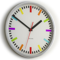 Karlsson Rainbow clock Black & White