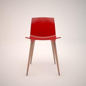 red andersen chair 3d model