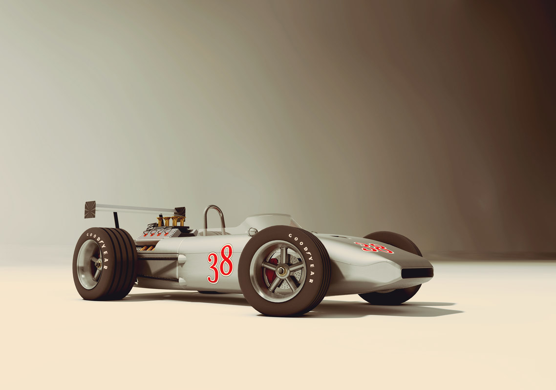 cinema4d race car old style