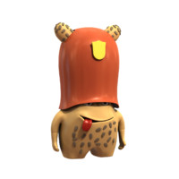 3d obj cartoon helm character