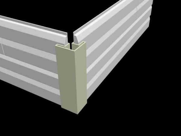 free house siding 3d model