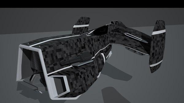 3d spacecraft guns