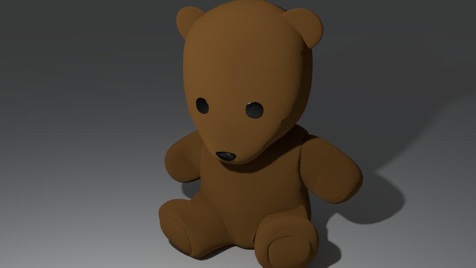 3ds max cute teddy bear