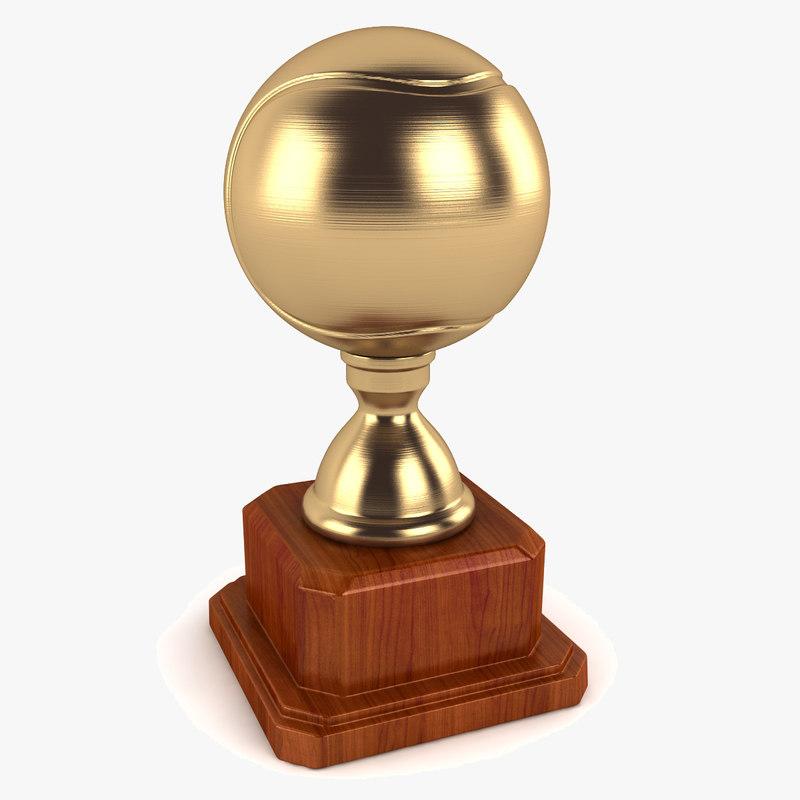 tennis ball trophy 3d 3ds