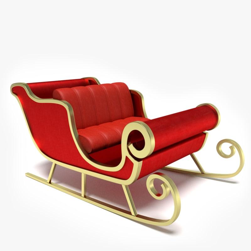 sleigh s 3d model