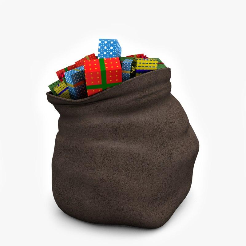 santa s bag 3d model