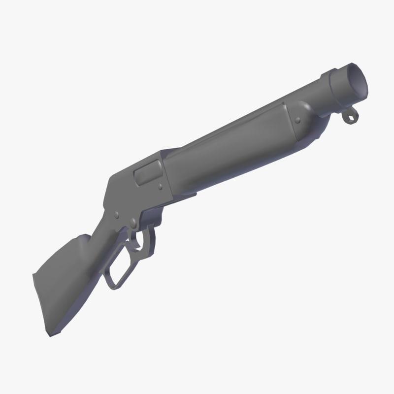 free obj mode lever action shotgun