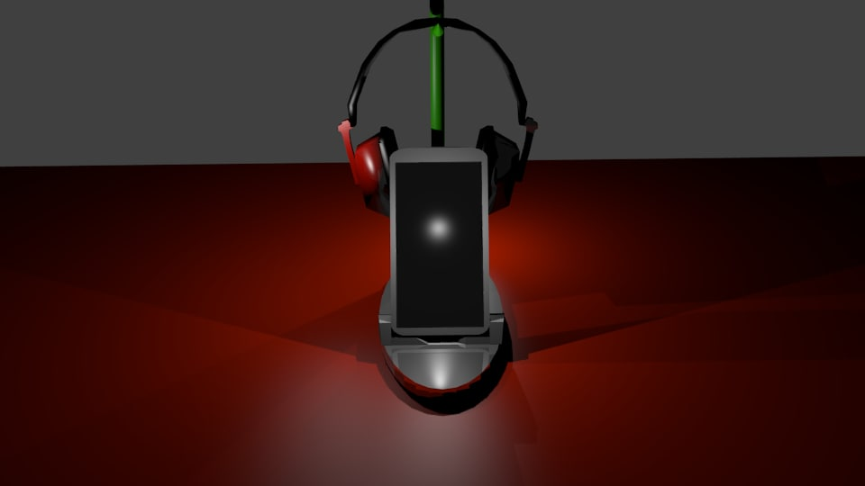 3d dock smartphone headphones model