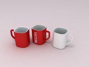 3d nescaf cup