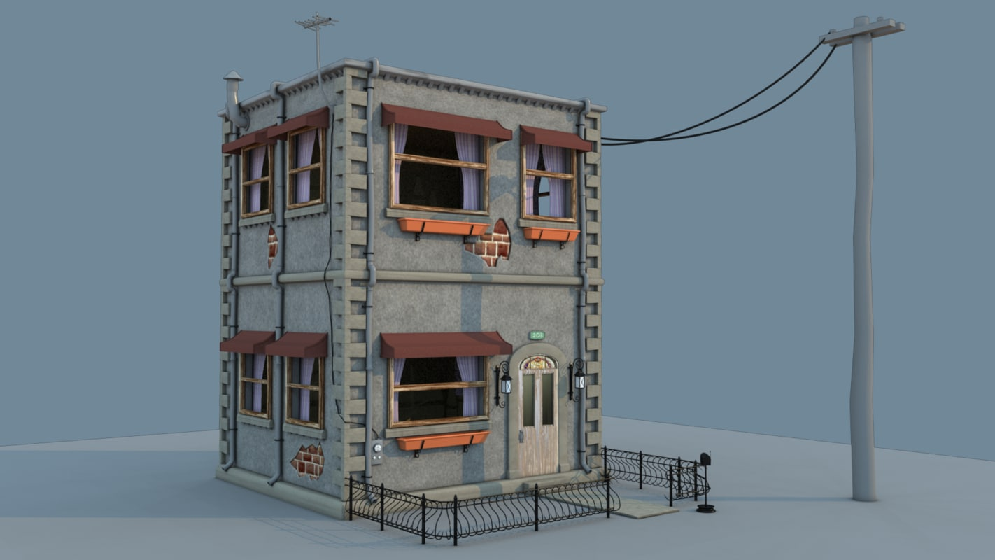 toon house 3d max