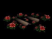 rose garden 3d model