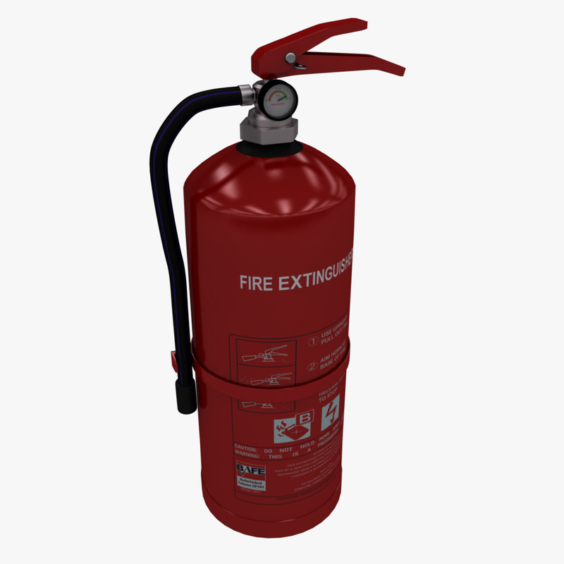 3d model of realistic extinguisher