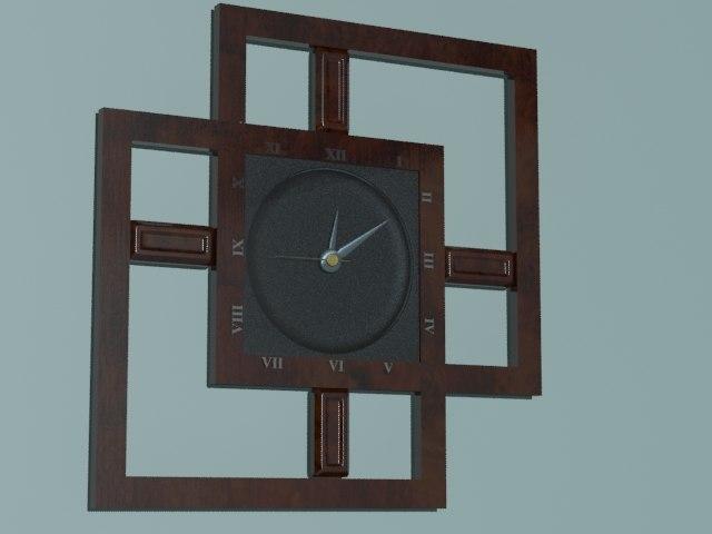 3d analog wall clock model