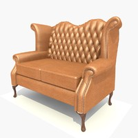 seater scroll sofa chair 3d model