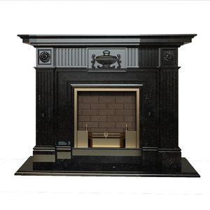 italian fireplace 3d model