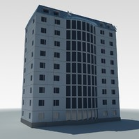 3d model of low-poly condo building