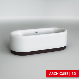 3d model of bath bathtube