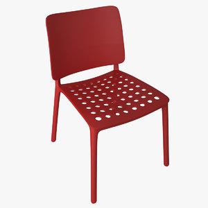3dsmax bonaldo blues stacking chair