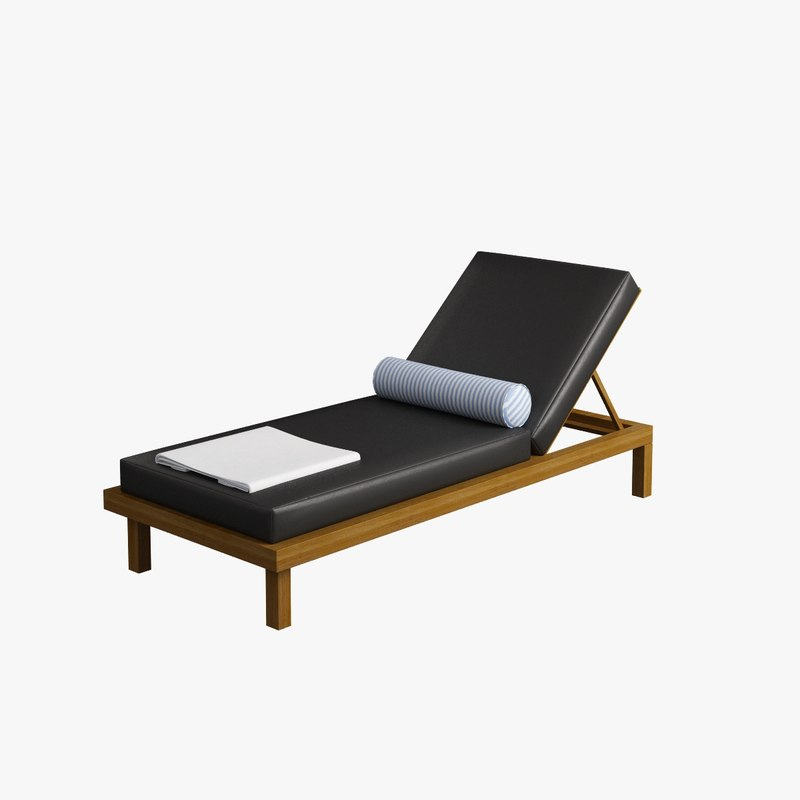 chaise lounge 002 3d model