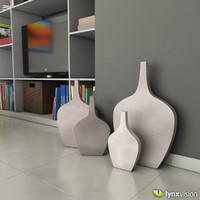 3d rustic ceramic vases