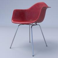 3dsmax eames arm chair 4-leg