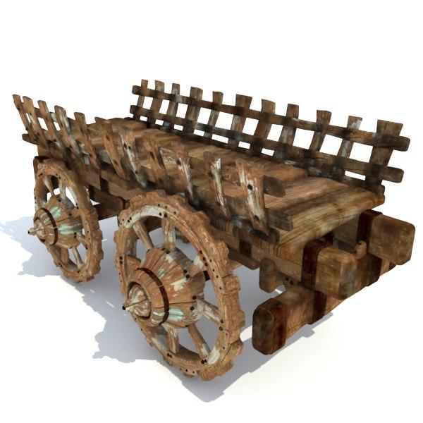medieval cart 3d max
