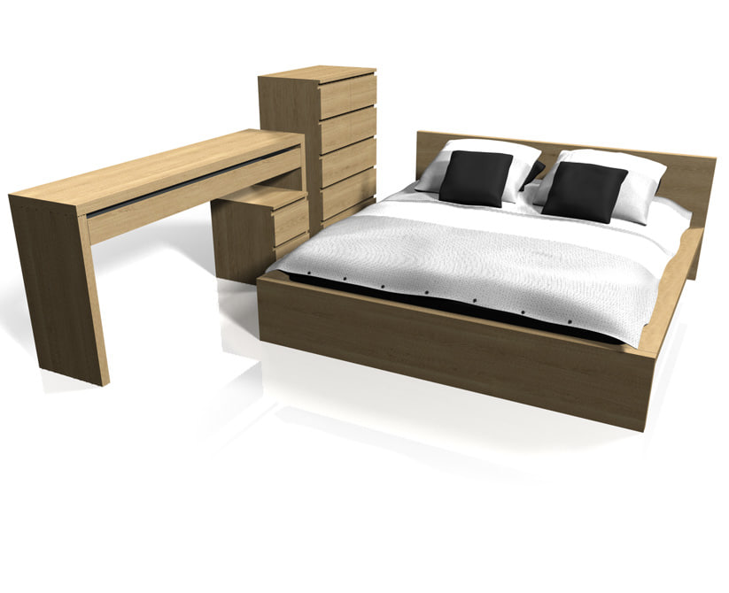 ikea malm bedroom furniture. ikea malm bedroom furniture 3d c4d w