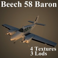 beech 58 3d model