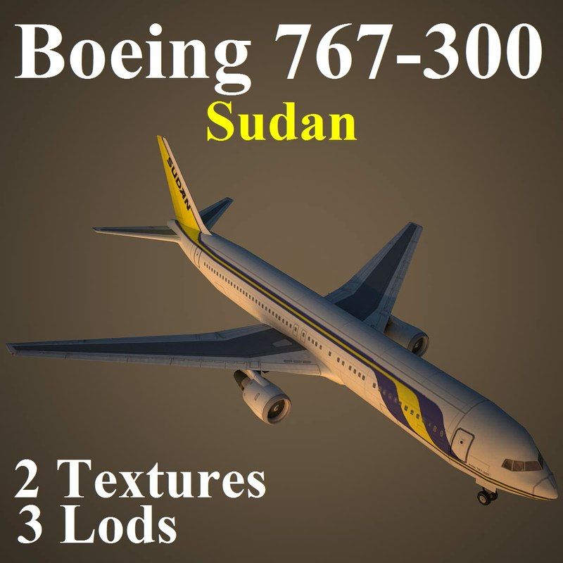 3d boeing 767-300 sud