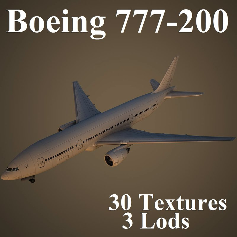 boeing 777-200 3d model