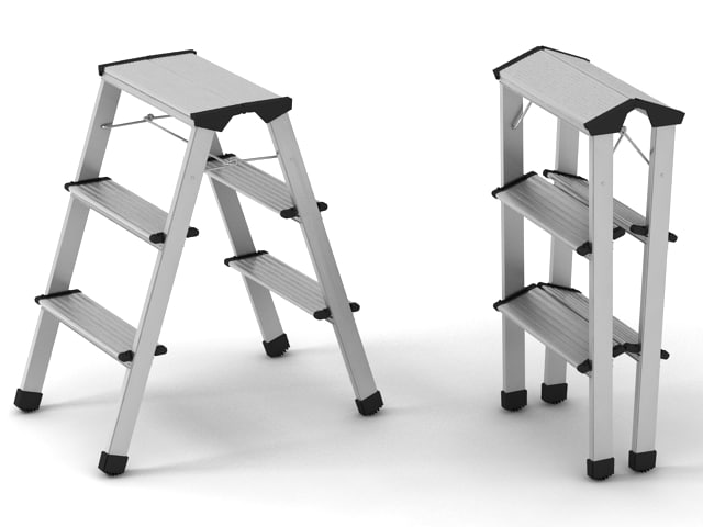 3d model ladder step