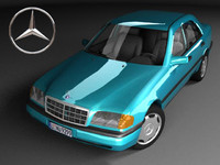 3ds max mercedes-benz c220 w202