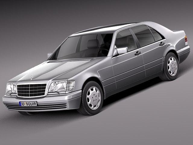 3d model sedan mercedes mercedes-benz luxury