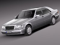 3d model sedan mercedes mercedes-benz luxury