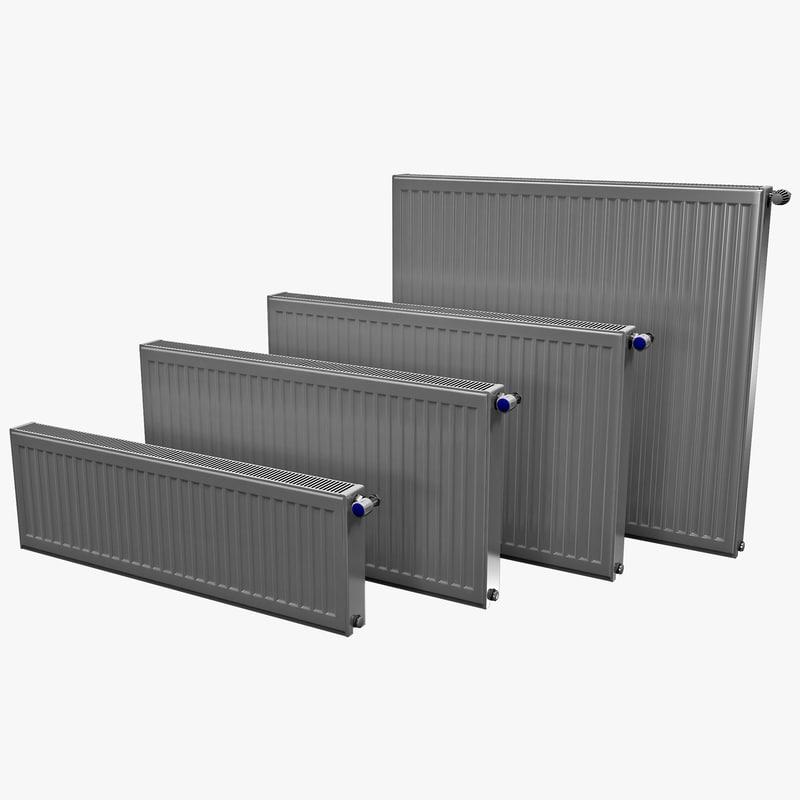 radiators set 3ds