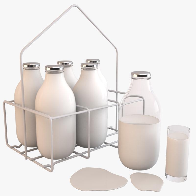 milk bottle 3d model