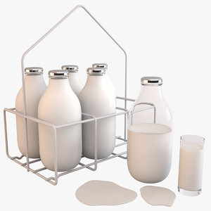 milk bottle 3d model