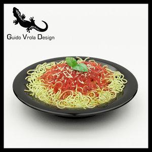 3d model spaghetti plate