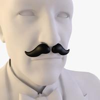 3d moustaches model