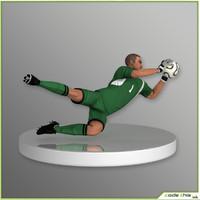 3d team soccer player goalkeeper model